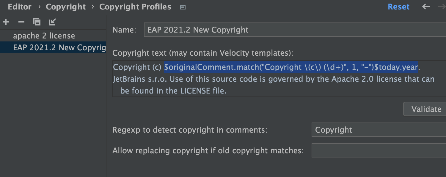 Multiple Copyright Years