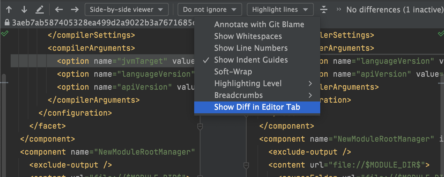 Unified Diff View 2