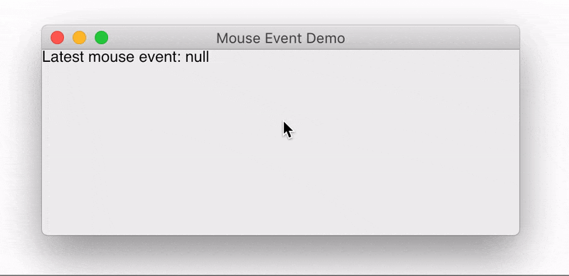 Demonstration of the mouse event API