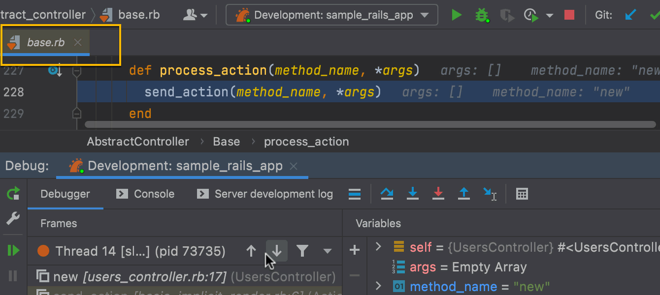 Preview tabs in the debugger