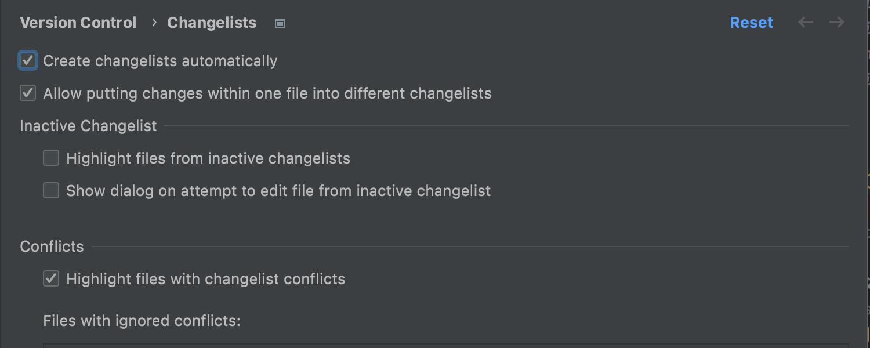 VCS Changes vs Changelists