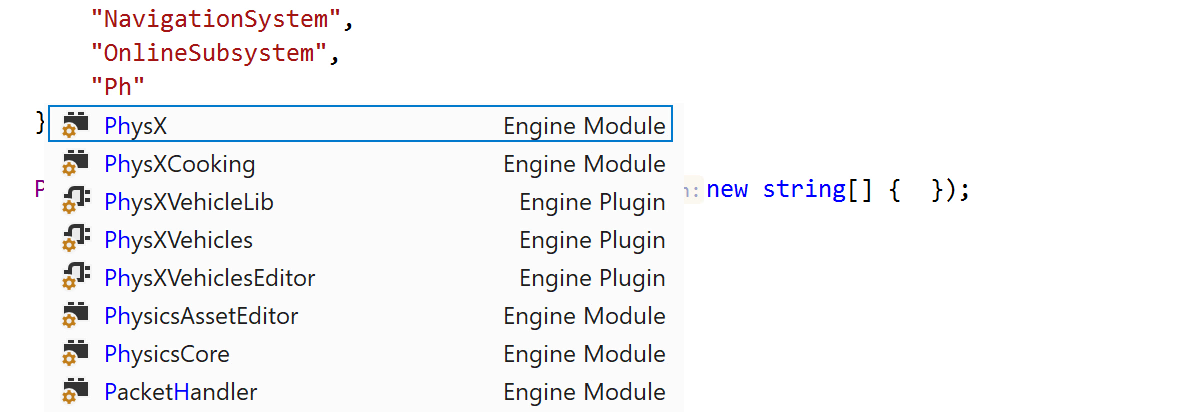 Code completion for module and plugin names