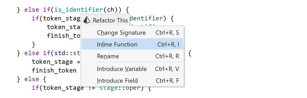 Inline Function refactoring