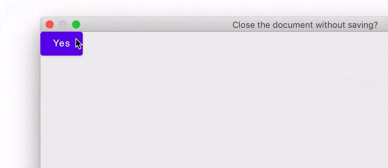 Demonstration of the Window API
