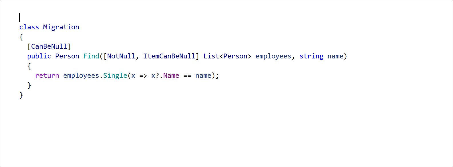 Migration to nullable reference types