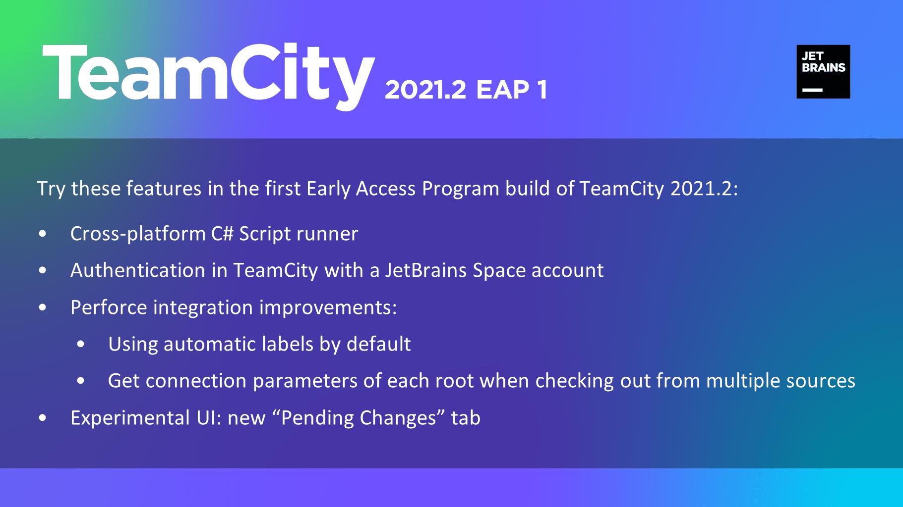 TeamCity 2021.2 EAP1
