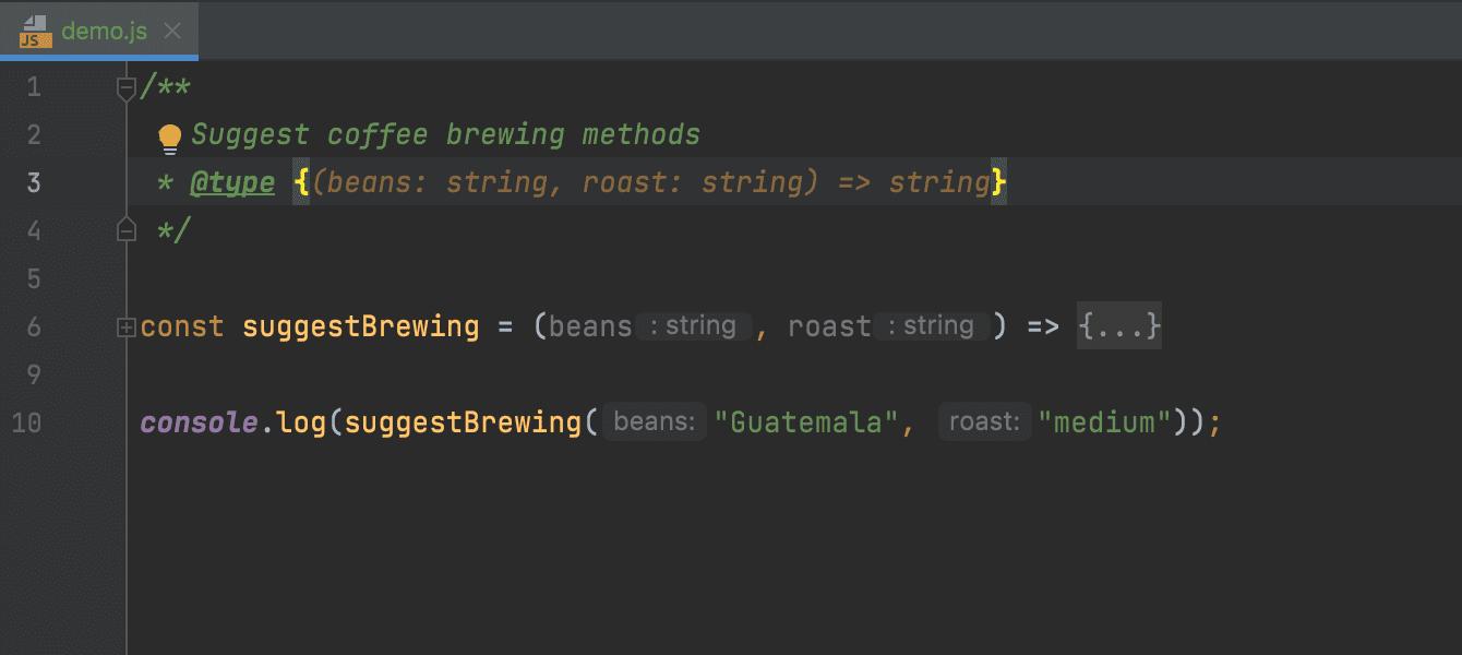 TypeScript in JSDoc