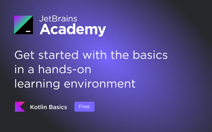 Kotlin Basics track on JetBrains Academy