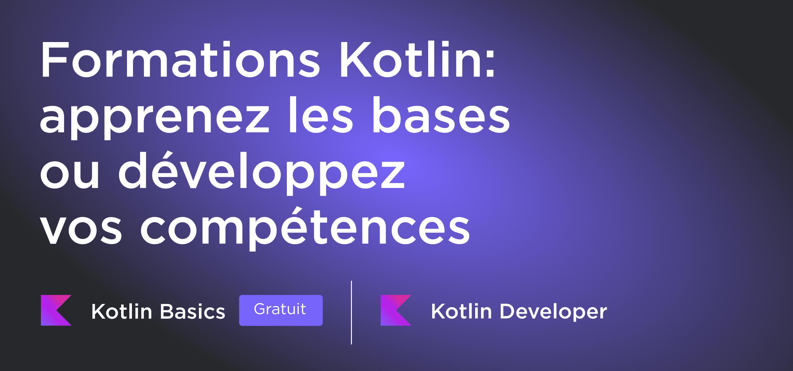 Modules de formation Kotlin sur JetBrains Academy