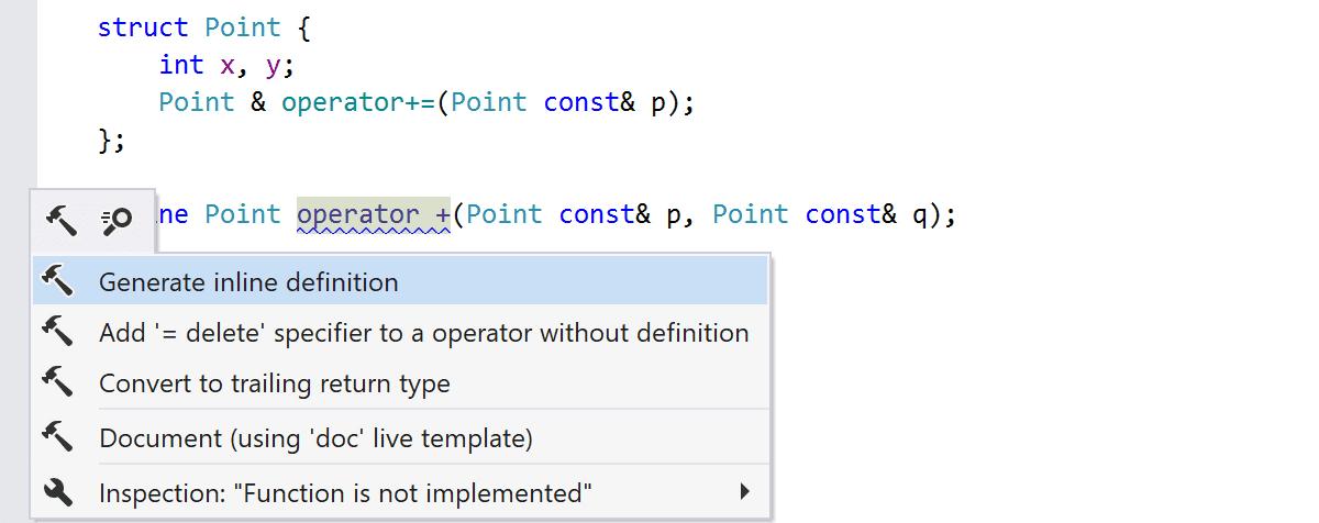 Generate default operator implementation