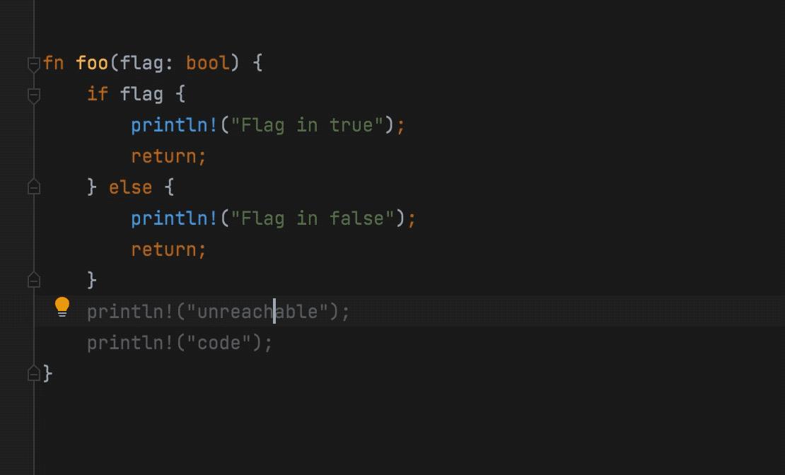 Unreachable code detection