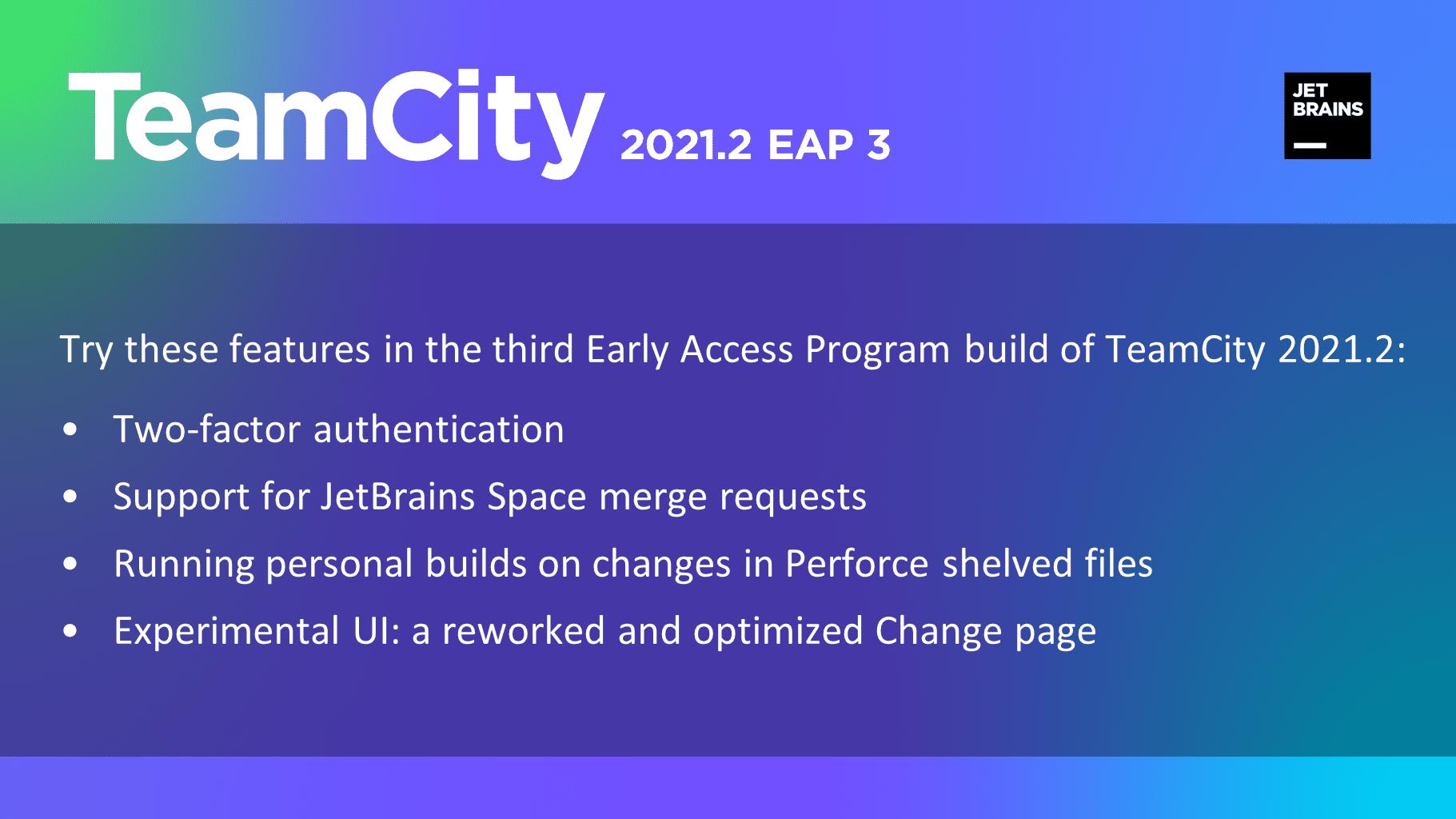 TeamCity 2021.2 EAP3