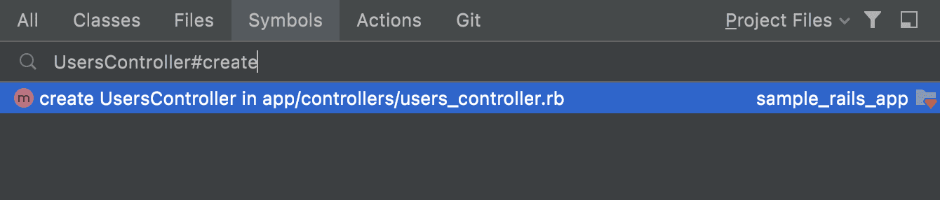 Support for Rails syntax in search