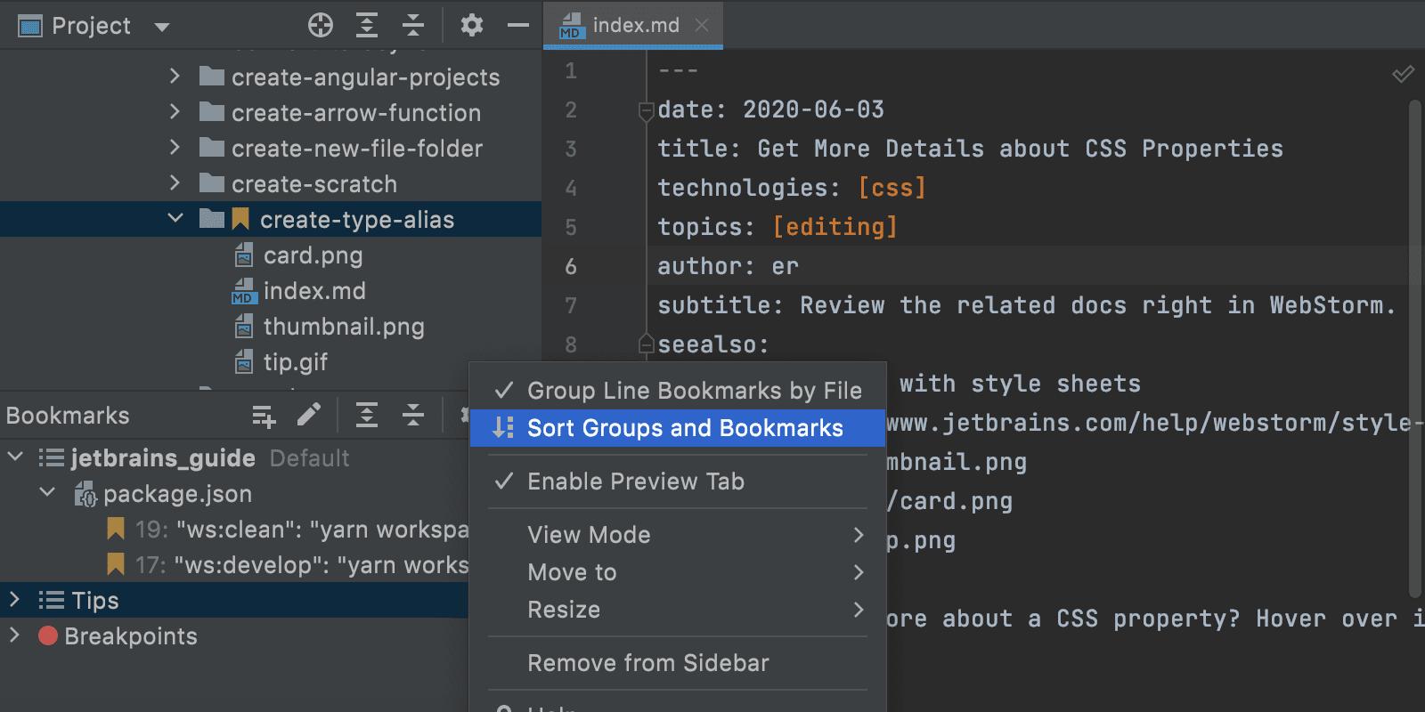 bookmark-tool-window-sorting-option-webstorm