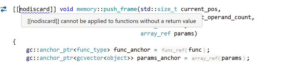 [[nodiscard]] cannot be applied to functions without a return value