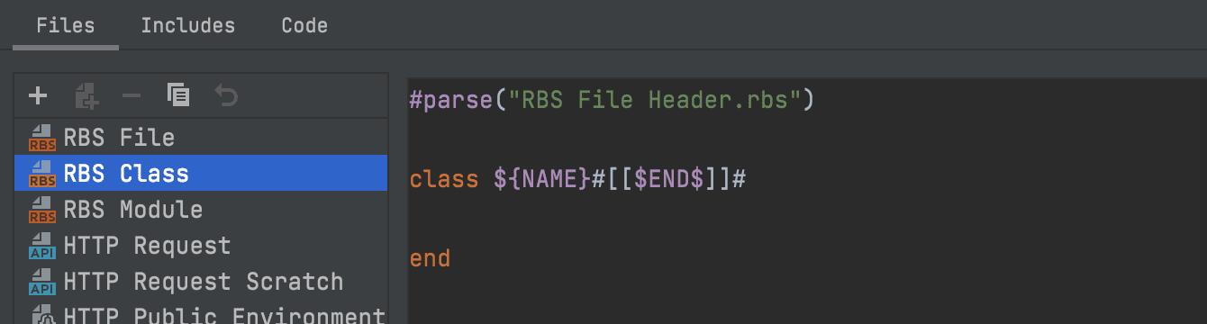 RBS file templates