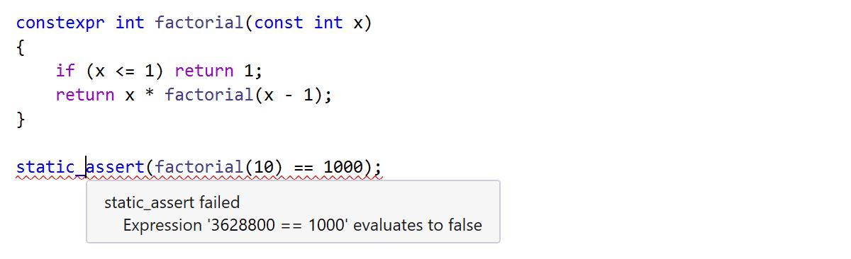 Details about failing static_assert