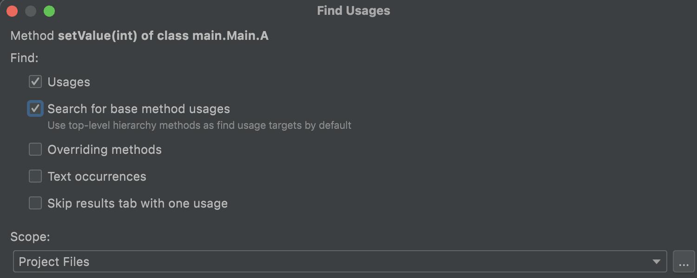 Find usages