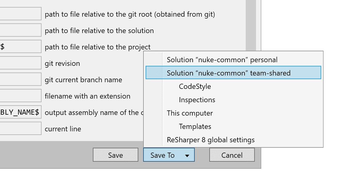 Saving custom URIs to the team-shared layer