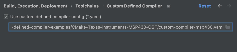 Enable Custom Defined Compiler