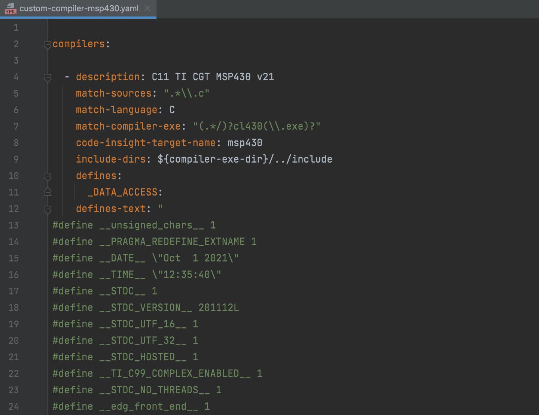 Custom Compiler config