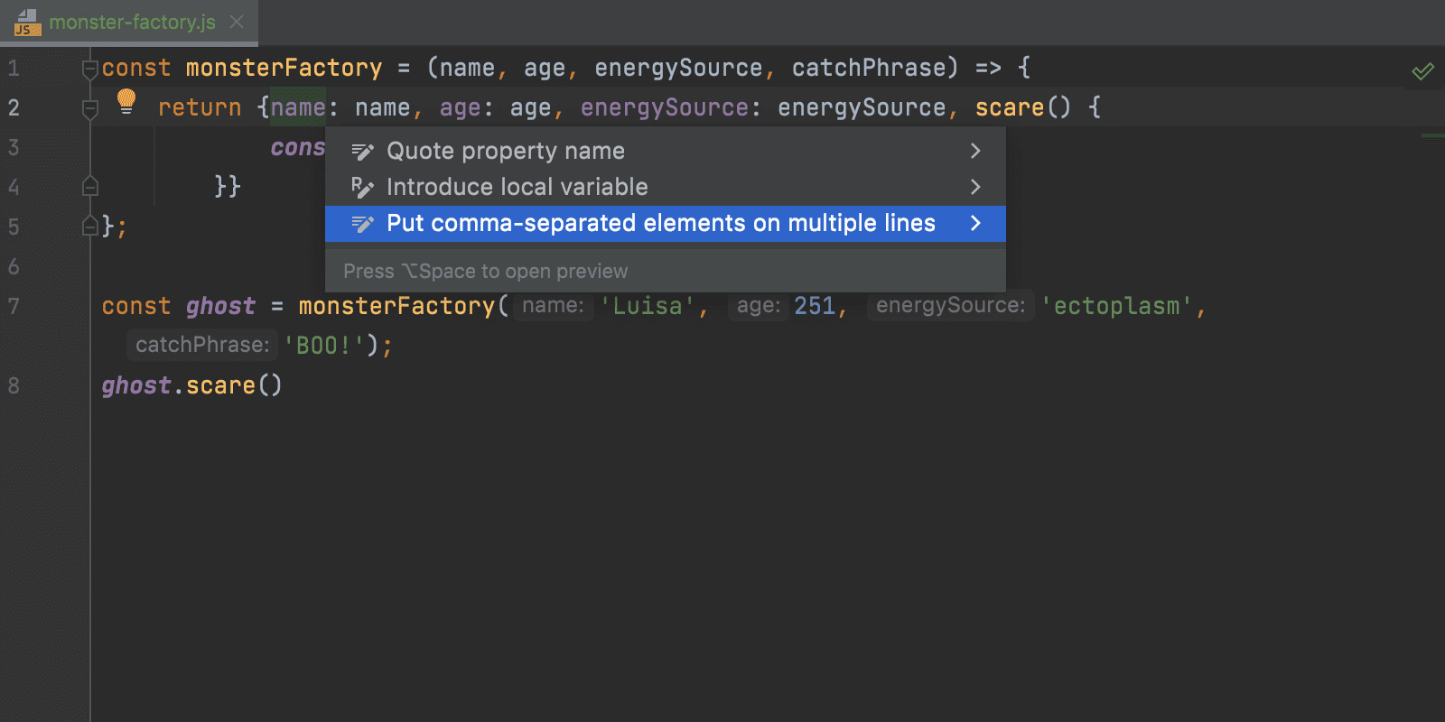 intention-for-putting-elements-on-separate-lines-and-back-webstorm