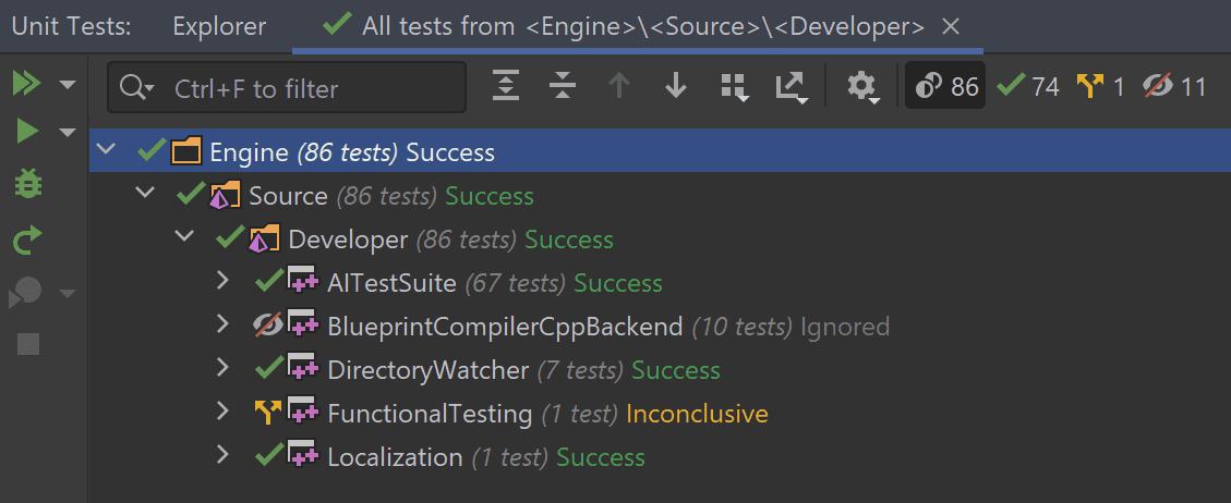 UE test types