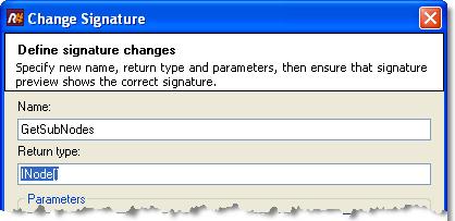 Change Signature refactoring