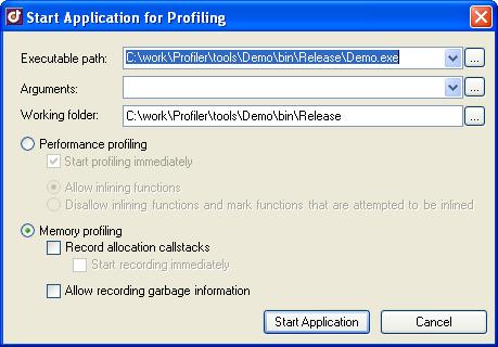 Select Memory Profiling