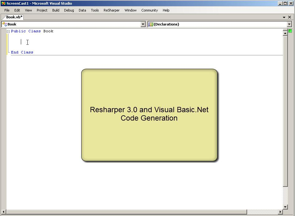 VB.NET in ReSharper 3.0