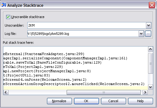 Analyzing external stack traces | IntelliJ IDEA Blog