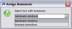 AssignMnemonicQuickfix